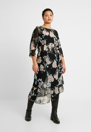 CARMYRA 3/4 CALF DRESS - Jersey dress - black