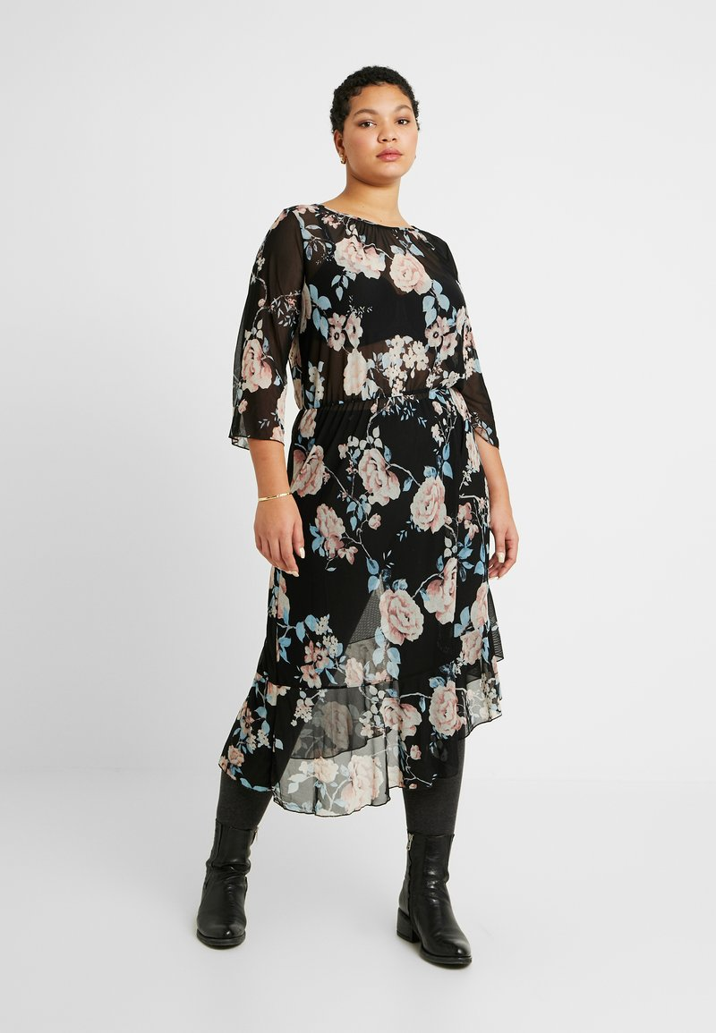 ONLY Carmakoma - CARMYRA 3/4 CALF DRESS - Jerseykjole - black