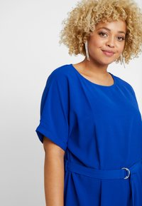 ONLY Carmakoma - CARMALIKKA KNEE DRESS - Day dress - dazzling blue - 4
