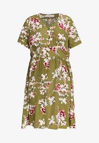 ONLY Carmakoma - CARONA SWIFT KNEE DRESS - Shirt dress - martini olive - 5