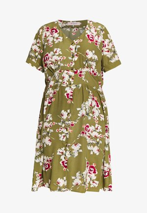 CARONA SWIFT KNEE DRESS - Sukienka koszulowa - martini olive