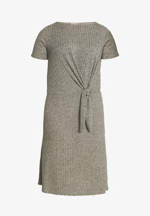 CARLORINE KNOT KNEE DRESS - Gebreide jurk - kalamata/melange