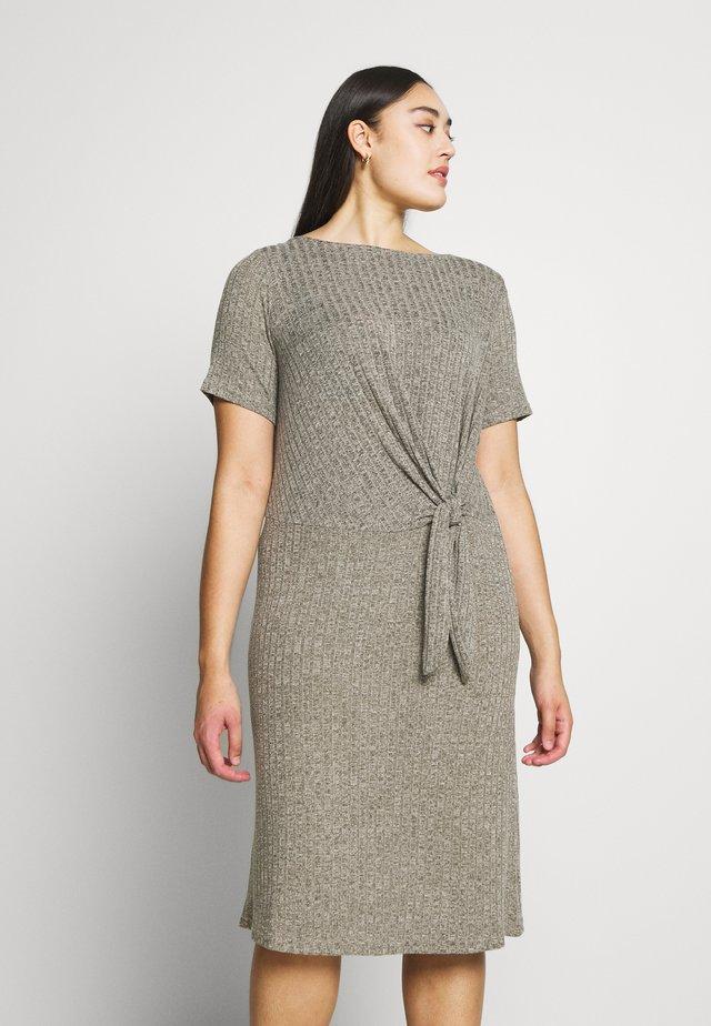 CARLORINE KNOT KNEE DRESS - Strikket kjole - kalamata/melange