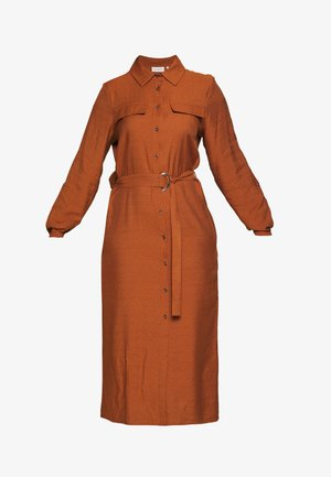 CARWANDA CALF SHIRT DRESS - Blusenkleid - brown patina