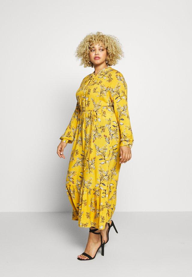CARSPRINGI CALF DRESS - Skjortekjole - golden apricot