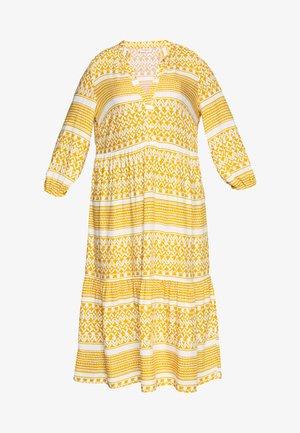 CARMARRAKESH CALF DRESS - Maxi dress - golden spice/cloud dancer