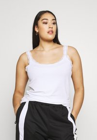 ONLY Carmakoma - CARMILO LACE S/L TANK TOP - Top - bright white - 0