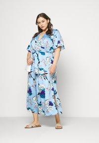 ONLY Carmakoma - CARFLONE BAT SLEEVE DRESS - Maxi šaty - placid blue - 1