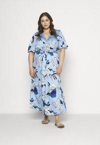 ONLY Carmakoma - CARFLONE BAT SLEEVE DRESS - Maxi šaty - placid blue - 0