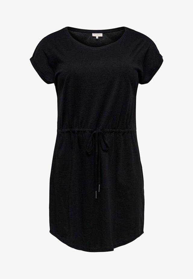 KLEID CURVY BASIC - Žerzejové šaty - black