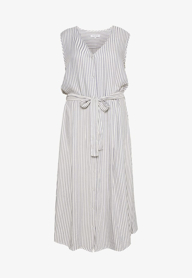 CARISA STRIPE CALF DRESS - Day dress - off-white/blue