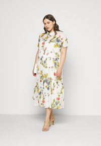 ONLY Carmakoma - CARSPIRIT CALF DRESS - Shirt dress - cloud dancer - 1