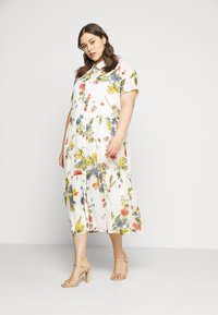 ONLY Carmakoma - CARSPIRIT CALF DRESS - Shirt dress - cloud dancer - 0