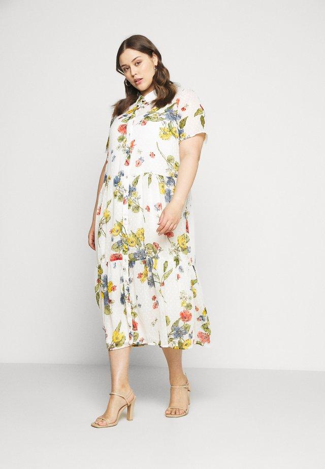 CARSPIRIT CALF DRESS - Shirt dress - cloud dancer