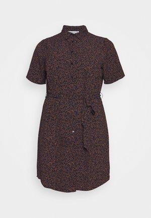 CARLILA DRESS - Shirt dress - dark blue/ochre