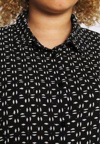 ONLY Carmakoma - CARLILA DRESS - Shirt dress - black/white - 5
