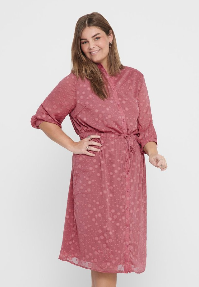 BEDRUCKTES CURVY - Shirt dress - withered rose