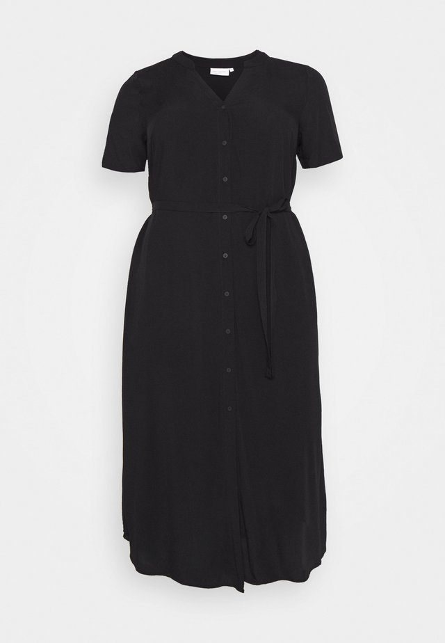 CARTUKZU CALF SHIRT DRESS - Day dress - black
