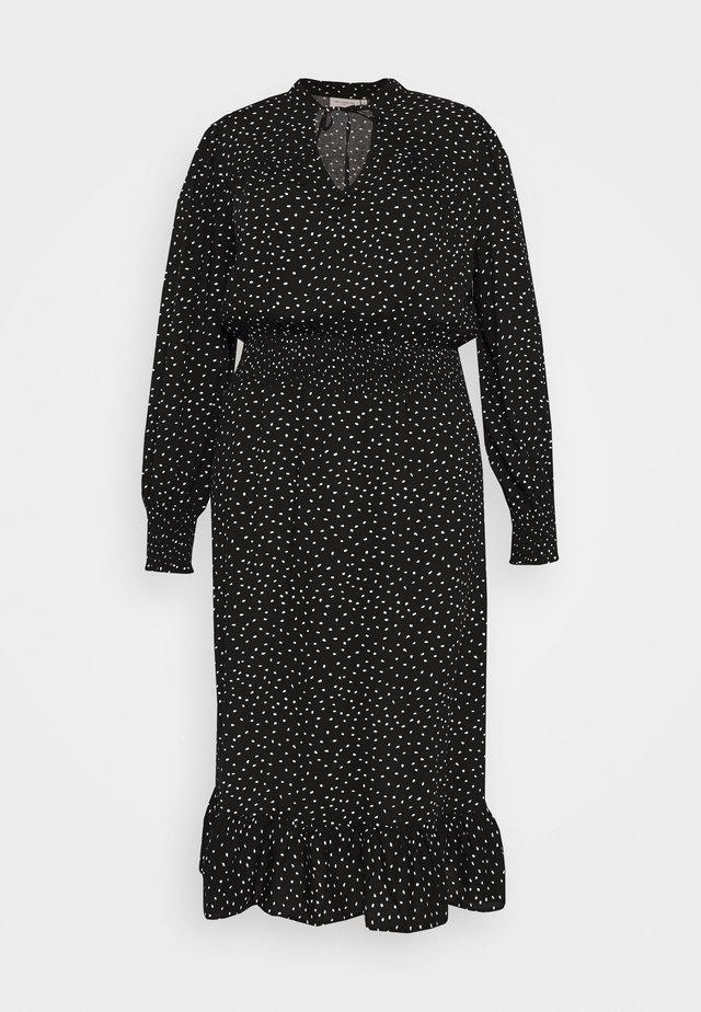 CARLOLA CALF DRESS - Vestido informal - black/white