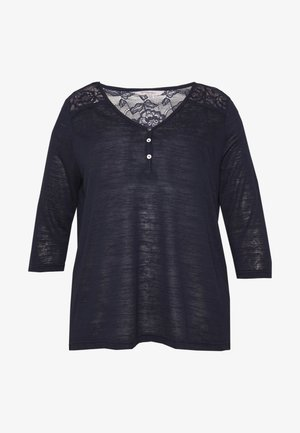 CARMINNA TUNIC BLOUSE - Neule - night sky