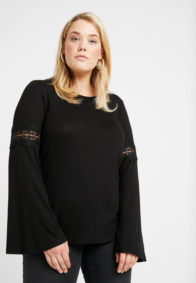 ONLY Carmakoma - CARSILKE - Langarmshirt - black