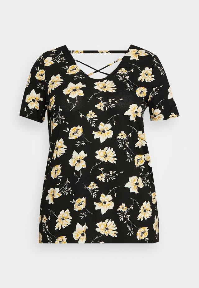 CARBANDANA - T-shirt con stampa - black