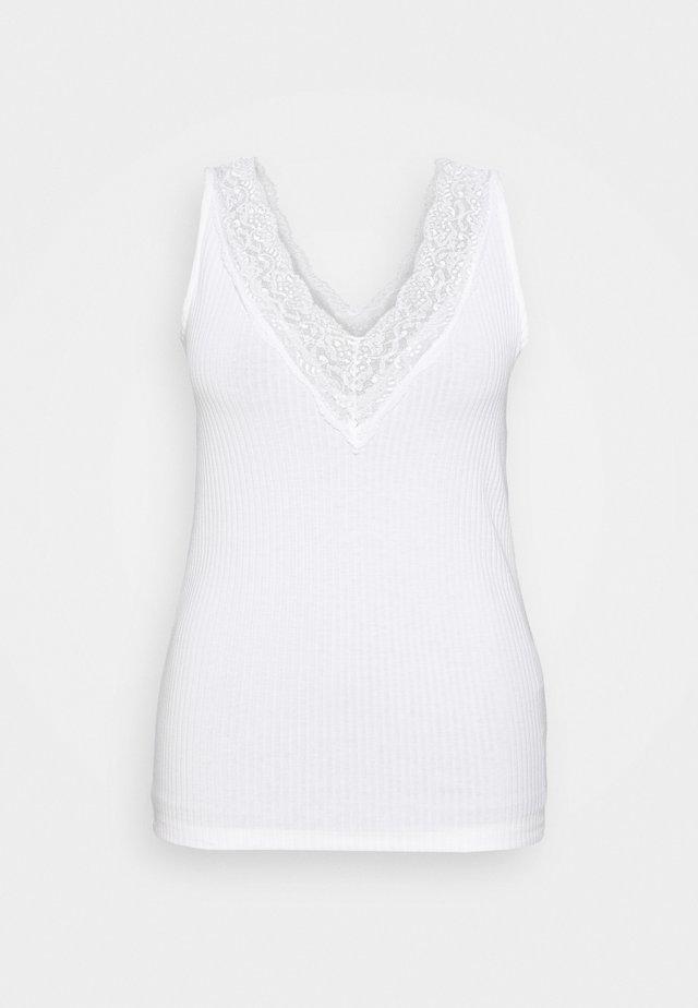 CARSILKA TANK - Linne - bright white