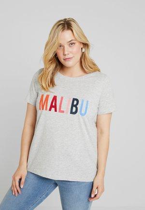 CARELISSA TEE - T-shirts med print - light grey melange