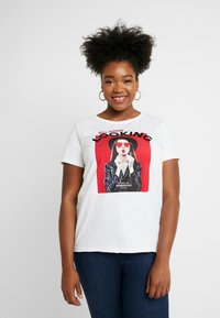 ONLY Carmakoma - CARACEY FIT PHOTO - T-shirts med print - white - 0