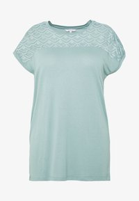 ONLY Carmakoma - CARFLAKE MIX TOP NOOS - T-shirts med print - chinois green - 3