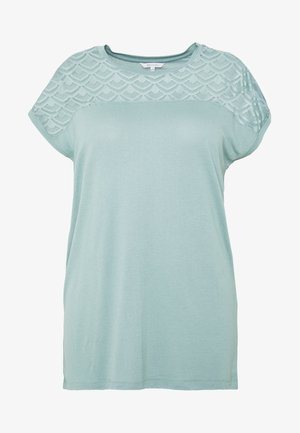 CARFLAKE S/S MIX TOP NOOS - Print T-shirt - chinois green