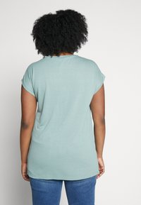 ONLY Carmakoma - CARFLAKE MIX TOP NOOS - T-shirts med print - chinois green - 2
