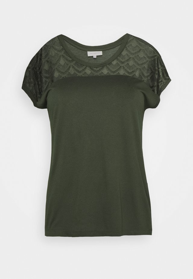 CARFLAKE MIX TOP NOOS - T-shirts med print - forest night