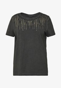 ONLY Carmakoma - CARTROUBLE LIFE TEE - T-shirts med print - black - 3
