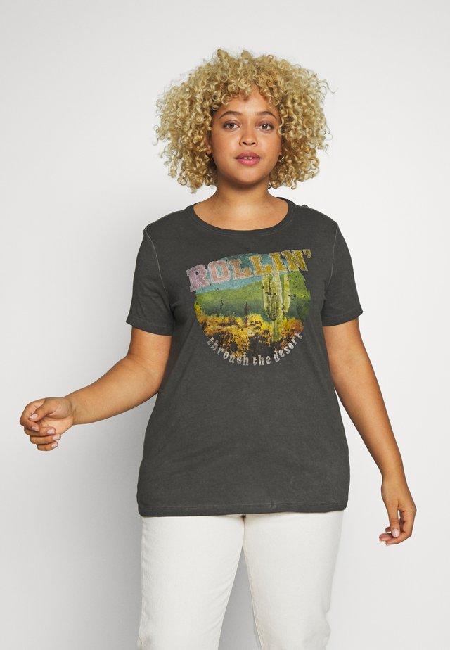 CARCACTUS LIFE - T-shirt med print - black
