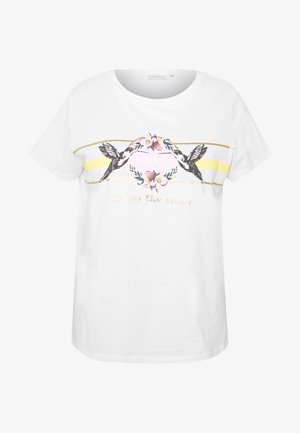 CARAMALFI LIFE TEE - Camiseta estampada - bright white/honey dew