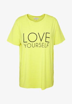 CARBRIGHT BOXY TEE - Print T-shirt - evening primrose