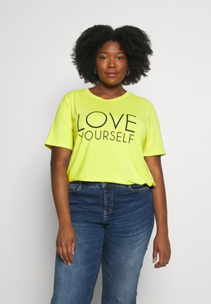 CARBRIGHT BOXY TEE - Print T-shirt - evening primrose