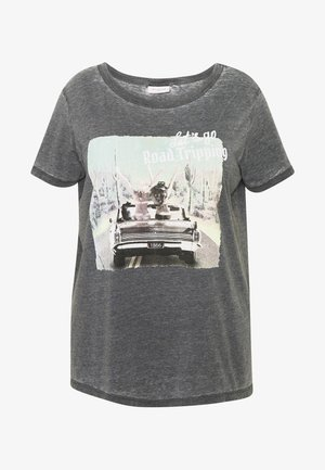 CARROAD REG TEE - Camiseta estampada - black/acid wash
