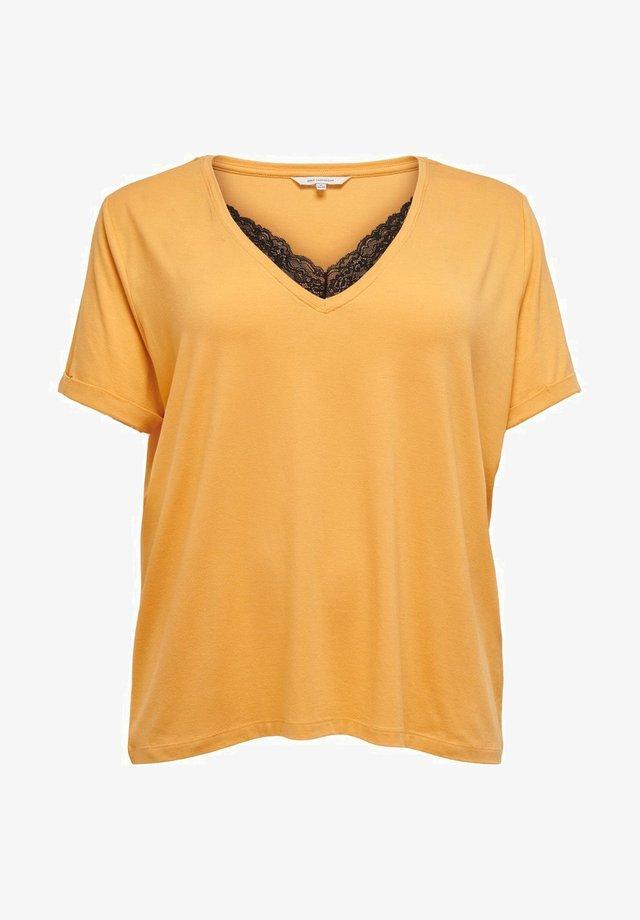 CURVY - T-shirt z nadrukiem - golden apricot