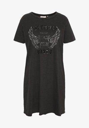 CARNESS LIFE TUNIC TEE  - T-shirt z nadrukiem - black