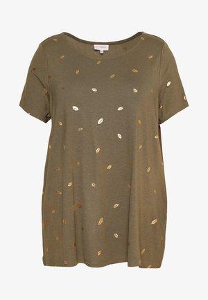 CAREMA TOP - T-Shirt print - khaki