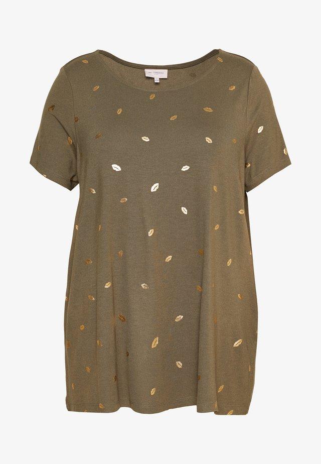 CAREMA TOP - T-shirts med print - khaki