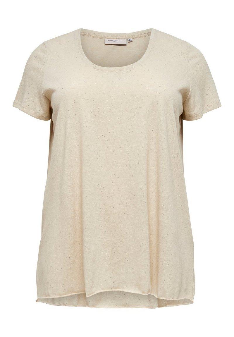 ONLY Carmakoma - CURVY GLITZER - T-shirts print - oatmeal