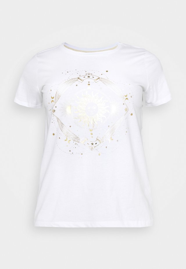 CARBARNEY LIFE TEE - T-Shirt print - bright white