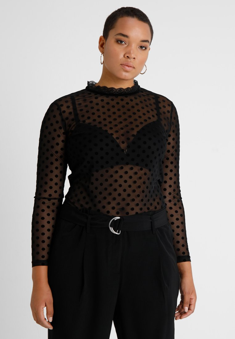 ONLY Carmakoma - Maglietta a manica lunga - black