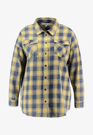 CARALIMA CHECK - Button-down blouse - golden yellow