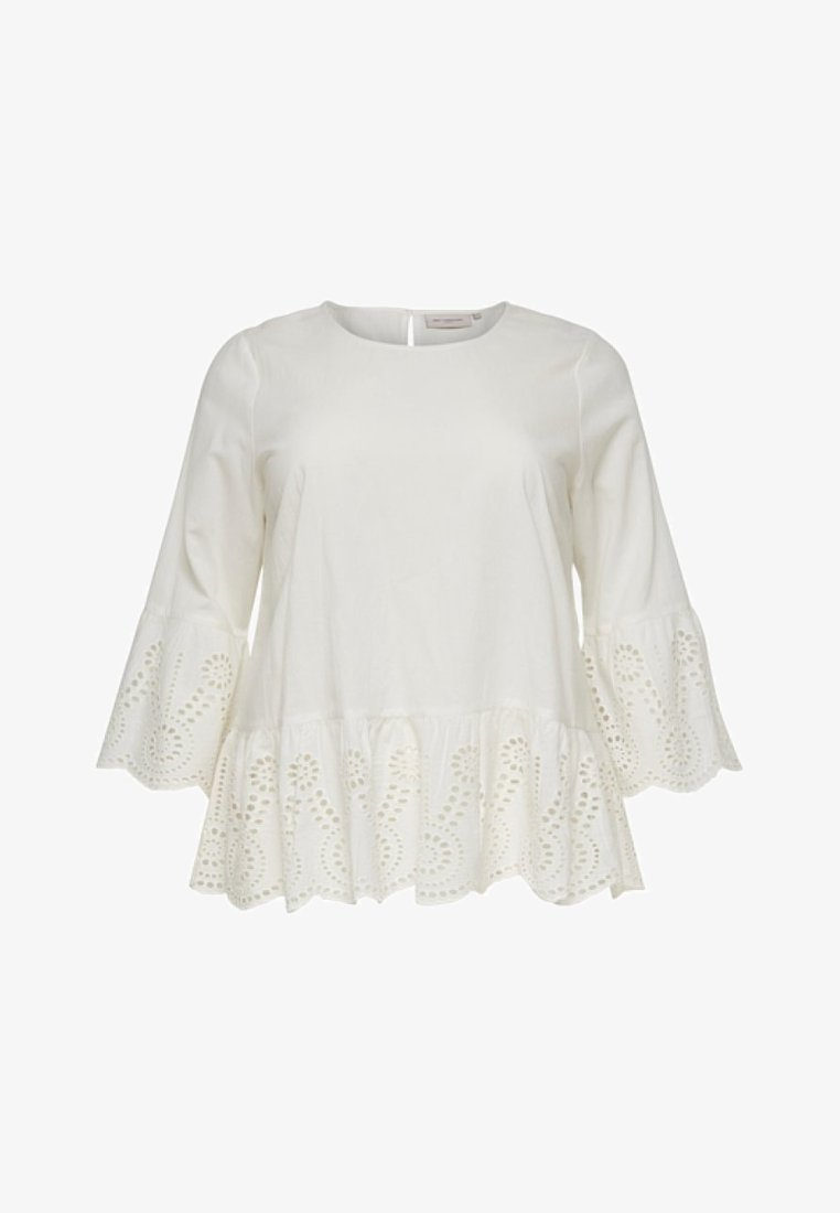 ONLY Carmakoma - OBERTEIL  - Bluse - off-white