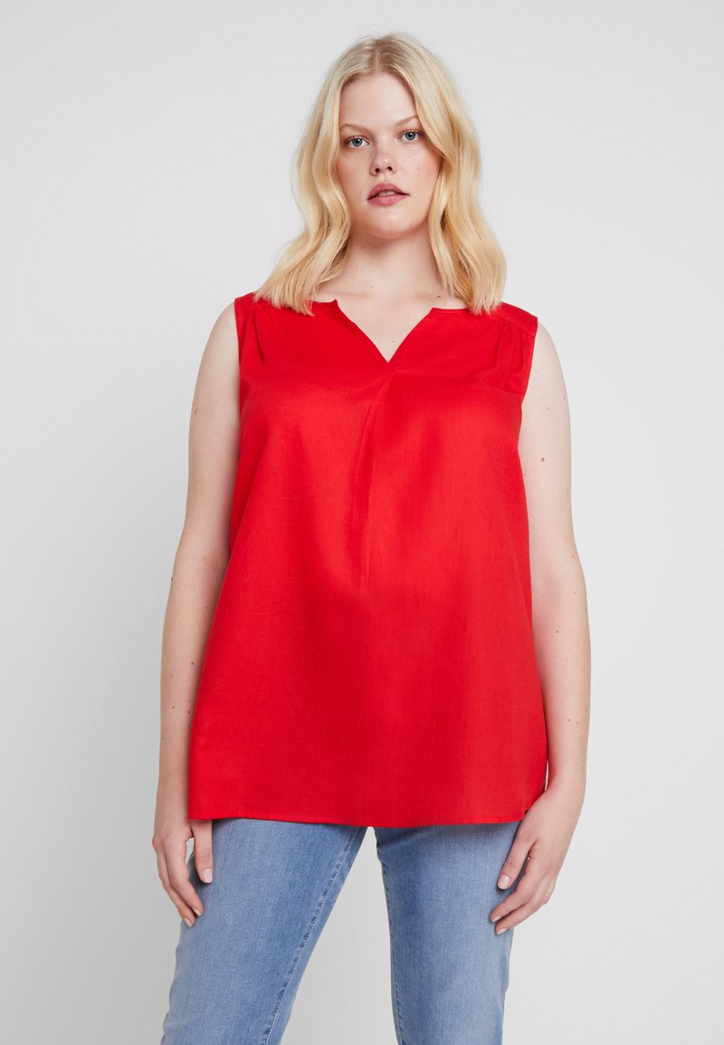 ONLY Carmakoma - CARSHELLY TOP - Bluse - high risk red