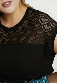 ONLY Carmakoma - CARFLAKE MIX - Blouse - black - 4